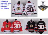 Chicago Blackhawks Jerseys Ice Hockey Jerseys #30 marty turco jersey white red black 2013 Stanley Cup champion