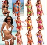 Hot Wholesale Price Sale Summer 2014 Fashion Sexy Bikini Swimwear Shoulder Strap bikinis set Cheap Beach swimsuits