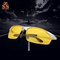 lots sale High Grade Design Polarized Anti Glare Night Vision Glasses,Men Professional Alloy Frame Polaroid Gafas Nocturna G361