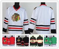 Chicago Blackhawks Jerseys Ice Hockey Jerseys blank white red green balck third 2013 Stanley Cup champion