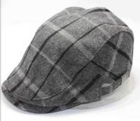 Unisex fall and winter flat cap big plaid flat cap England style flat cap newsboy cap