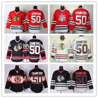 Ice Hockey Jerseys Chicago Blackhawks Jerseys #50 corey crawford jersey white red third black ice Stanley Cup champion