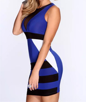 N147 New Side Tie Club Wear Sexy Halter Lingerie Adult Party Costume Mini Short Dress Skirt DEEP