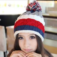 Free Shipping 2014 Winter Hats For Women Warm Twist Knitted Hat Fashion Beanies Women Winter Cap fur hat