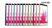 Free Shipping LOVE MEI Ultrathin Metal Bumper Frame Case Aluminum Skin for LG Optimus G3 D855!