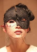 Free shipping  Lady GaGa veil rivet punk mask mask