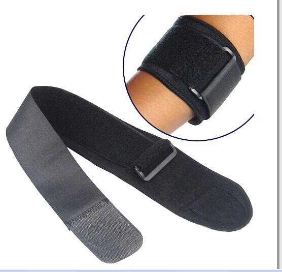 Black Adjustable Tennis Fitness Elbow Support Strap Pad Neoprene Sport Golf Pain-1019(China (Mainland))