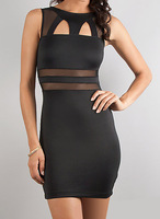 N137 New Side Tie Club Wear Sexy Halter Lingerie Adult Party Costume Mini Short Dress Skirt DEEP