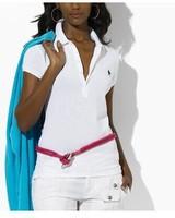 2014 Women high quality Brand Tshirt Short Sleeve T-shirt Brand Woman small horse logo Printed Tees Slim Fit Tops Camisas Blusas
