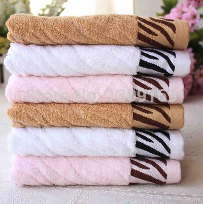 Toalha De Banho Toalha 70% Bamboo Fiber Soft Face Towel Home Hotel Beach Tiger Stripes for Gift Quick-dry free Shipping(China (Mainland))