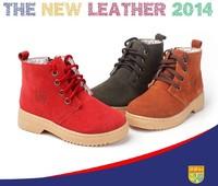 2014 new winter Children boots cotton shoes The boy Martin boots Leather boots children shoes girls size 23-37
