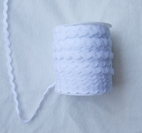 Free shipping 10Yards 1/2cm width White RICRAC polyester ribbon on clothes&Bra Accessories Sewing Trim