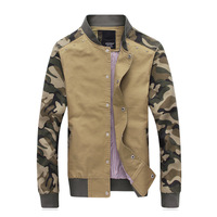 New arrivals free shipping slim fit men jacket stand collar camouflage military coat outwear 3 color BD543