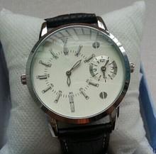 Nuevo 2014 Mens relojes primeras marcas de lujo + correa de cuero relojes + Business Casual reloj de cuarzo hombres hombres relojes de pulsera