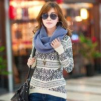 Low Cheap Free shipping 2014 New Fashion Winter Women Wool Sweater Thick Knitting O-neck Women Pullover