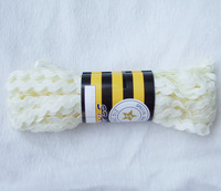 Free shipping 10Yards 1/2cm width Beige RICRAC polyester ribbon on clothes&Bra Accessories Sewing Trim