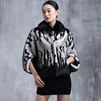 Winter Warm Luxury Shawl Ladies Elegant Mink Fur Jacket New Fashion Women's Fur Outerwear Cape Coat A205 2015 Plus Size