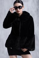 Fall Winter Black CoatS Warm Overcoats Ladies Elegant Mink Fur Jacket Women's Fur Outerwear Coat A211 New Fashion Plus Size
