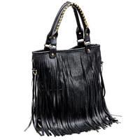 Bags Women Leather Handbags Punk Tassel Shoulder Bags Fahion Women Big Handbag Messenger Bag Totes Bolsa Franja Z55