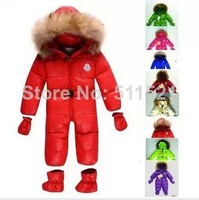 100% of the 2014 winter 0-3 years old baby  feather clothing  The garment
