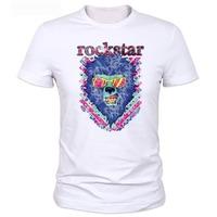 Men's cotton short sleeve hip hop T-shirt 2014 summer new skateboard Top quality men o-neck printed t shirt rock startops