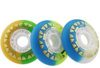 2014  new syle  matte black Panda eye brake wheel flat Hanawa roller skate wheels 83a choose size