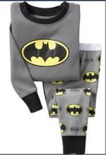 Baby Boys girls Batman pajamas long sleeve pyjamas bodysuit kids sleepwear boys pajamas kids pyjamas(China (Mainland))