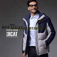 Free shipping 2014 new men's down jacket new men fashion casual jacket thick super warm