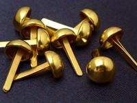 2000pcs 9mm GOLD Round Dome Purse Bags Feet Decorative item STUDS