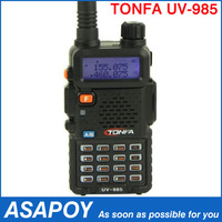 TONFA Walkie Talkie Dual band 128CH UV-985 VOX DTMF Offset Two-Way Radio Transceiver.Free shipping