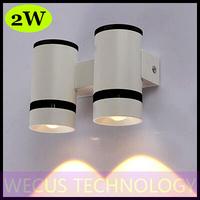 (WECUS) free shipping, American / European fashion LED wall lamp, bedroom bedside wall lamp, 2 heads 2W, XJ-BD-1220
