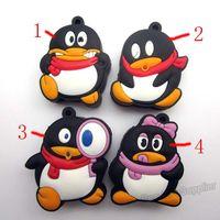 Wholesale 50pcs lot pvc Cartoon pendrive QQ Penguin figure USB Flash drive tencent figure pen drive memory disk 1G 32G