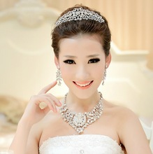 2014 Fashion Bride Wedding Necklace Deserve to Act The Role of Crown Marriage Gauze Tire Three Wedding Tasted Suit