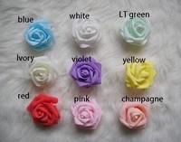free shipping (100 pcs/lot) DIY 8 colors 7cm foam rose flower handmade DIY wedding home decoration artificial flower holiday