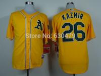 stitched  Oakland Athletics 26 Scott Kazmir   men's  baseball Jersey/Anthony Rendon  baseball shirt