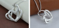 loving hearts design sterling silver jewelry pendant for necklace
