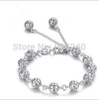 New Jewelry Fashion Cute Sweet 925 Silver Hollow ball  Charm Chain Bracelet For Women girl gift Link Bracelet