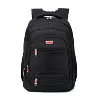 Free shipping black men's backpacks business backpack nylon zipper laptop bag 49*33*19cm
