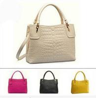 WEIDIPOLO Brand Women Leather Handbag New Crocodile Natural Leather Shoulder Messenger Bag Totes Bolsas