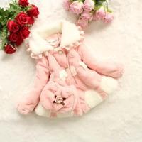Free shipping new children's fashion winter coat wool coat pearl flower girls