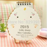 Kawaii cartoon animal shape small desk calendar,2015 new practical product,stationery wholesale(tt-820)