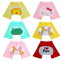 (18 Pcs/Lot) Cotton 6~24 Months Baby Hello Kitty Frog Rabbit Lions PP Shorts Baby Baby Bloomers