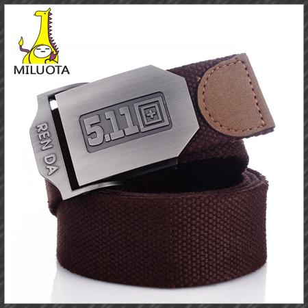 [MILUOTA] 2014 New Men brand canvas belt male wide belt fashion leisure 14 colors joker men's lady's belt Military Belt BT010(China (Mainland))