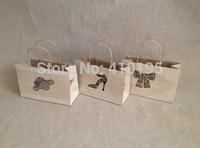 Free shipping 30pcs/lot 25*16*10cm kraft paper shopping bag,wedding candy gift packaging bag