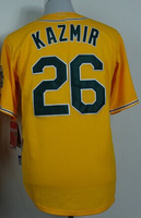 Cheap Sale,#26 Scott Kazmir Men's Yellow 2014 New Baseball Jerseys wholesale
