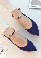 2014 New  spring autumn Korean ladies wind low shallow mouth pointed flat chain tenis espadrilles flats women loafers shoes x250