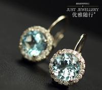 925 silver topaz stone elegant joker earrings