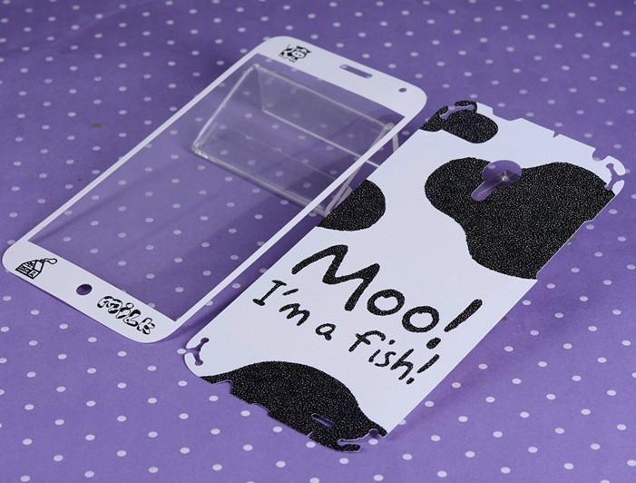Meizu mx3 screen protector Meizu 3 sticker for cell smart mobile phone skin cover moo cow print film kawaii cartoon(China (Mainland))