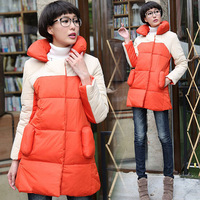 2014 New Winter Jacket Coat Women Casual Plus Size Thick Cotton Patchwork Down Parkas Winter Overcoat WC0302