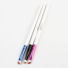 Pro Good Quality Elite Angled Eyebrow Brush White Handle Eye Liner Brow Tool Color Random Drop Shipping MU-069(China (Mainland))